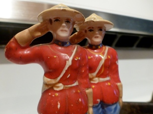 Mountie Salt & Pepper shakers