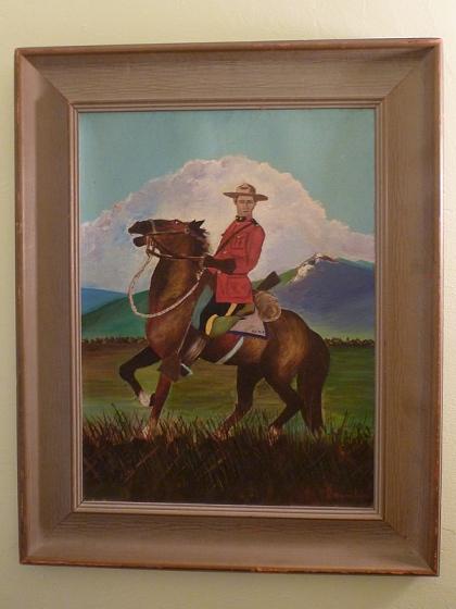 Mountie painting