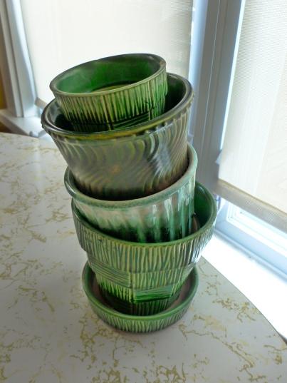Green McCoy planters