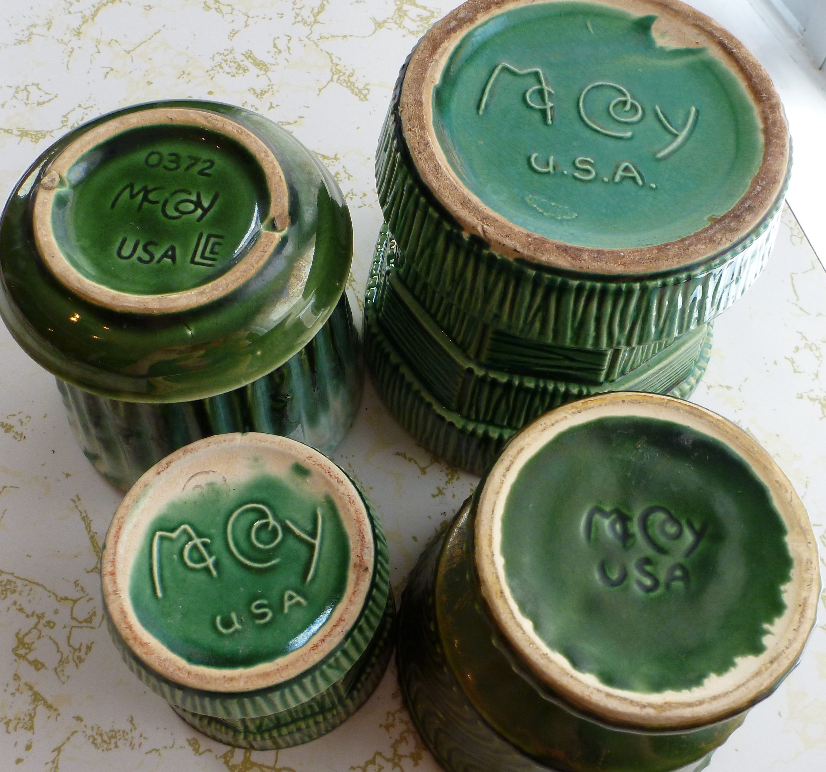 Vintage McCoy Pottery – Green Planters | The New Collector