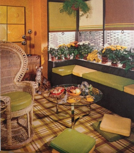 Green and Orange Retro Living Room (1971)