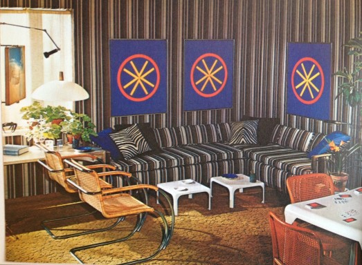 Groovy Living Room with stripes (1971)