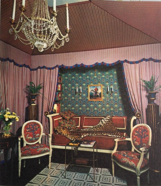 Far out Vintage Living room with tented ceiling (1971)