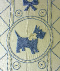 scotty dog chenille hand tufted
