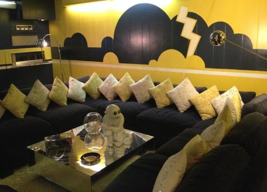 Graceland basement rec room