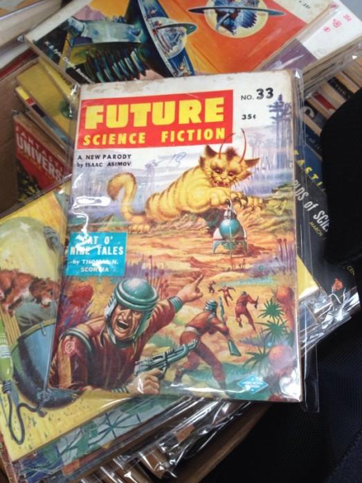 Vintage sci-fi pulp