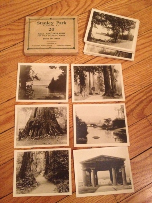Vintage tourist photos of Stanley Park